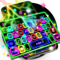 Thunder Neon Lights Keyboard Theme