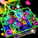 Thunder Neon Lights Keyboard Theme