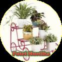 Flower pot shelf from iron design