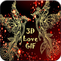 3D Love GIF