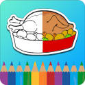 Coloring Book for kids : Food
