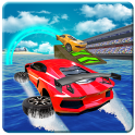 Water Car Surfer Racing 2019: 3D Cars Stunt Games