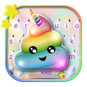 Rainbow Unicorn Poop Keyboard Theme
