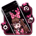 Cute Pink Girl Theme