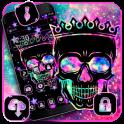 Black Galaxy skull Theme