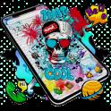 Cool Skull Graffiti Theme