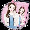 Pink Makeup Girl Theme