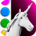 Unicorn 3D Coloring Book