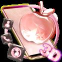 3D Pink Apple Crystal Theme