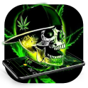 Green Weed Skull Theme
