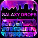 Falling Galaxy Droplets Keyboard Theme
