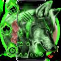 Green Wild Vivid Wolf Theme