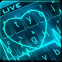Animated Neon Heart Keyboard Theme