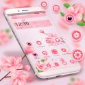 Beautiful Pink Flower Theme