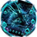 Blue Magic Supernatural Neon Wolf Theme