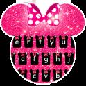 Pink Minnie Glitter keyboard Theme