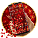 Red Rose Petals Gravity Theme