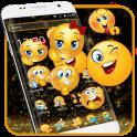 Black Glitter Emoji Theme