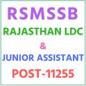 (RSMSSB) RAJASTHAN LDC & JUNIOR ASSISTANT