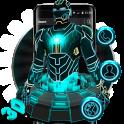 3D Neon Hero Theme