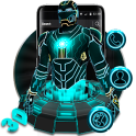 Tema 3D Neon Hero