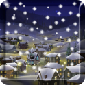 हिम रात शहर वॉलपेपर प्रो