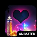 Night Love Animated Keyboard + Live Wallpaper