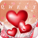 Romantic Love Heart Keyboard Theme