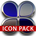 Blue silver glas icon pack HD