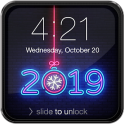 New Year Neon 2020 Lock Screen