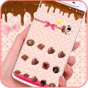 Chocolate Sweet Cakecups Pink Dessert Theme