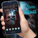 Neon Skull Launcher Theme