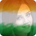 India Flag Photo DP & Name Letter Art