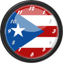 Puerto Rico Flag Clock Widget