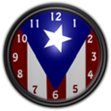 Puerto Rico Flag Clock2 Widget