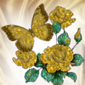 Gold Butterfly Flowers Live Wa