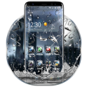 3D Rain Broken Glass Theme