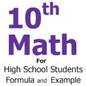 10th Class Math Formula