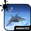 Jet Flight Animated Keyboard + Live Wallpaper