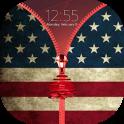 American Zipper Lock Screen