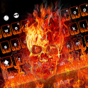 Fire Skull Keyboard Theme
