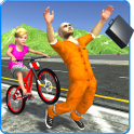 Kids Bicycle Rider Thief Chase