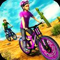 Mountain Climb Bicycle Rider