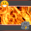 Fire Weather And Clock Widget