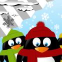 Reloj pingüinos widget