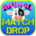 Animals Drop Match 3 Game Kids