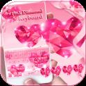 Pink Diamond Keyboard Theme diamond heart