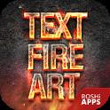 Fire Text Name Art