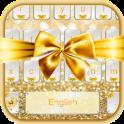 Gold Bow Keyboard Theme
