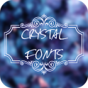 Crystal Font for FlipFont , Cool Fonts Text Free